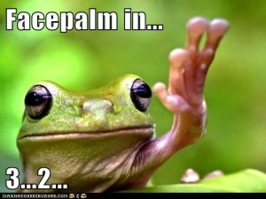 Facepalm Frog